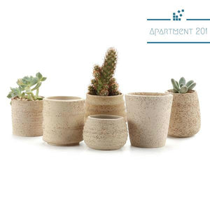 Rustic Raw Clay Planters - Apartment 201