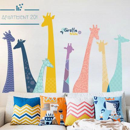 Doodly Giraffe Wall Decal - apt201