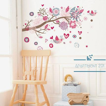 Bohemian Blossom Wall Decal - apt201
