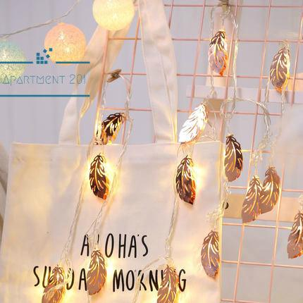 Rose Gold Feather String Lights - Apartment 201