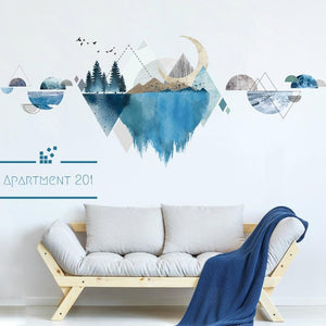 Geometric Nature Mirage Wall Decal - Apartment 201