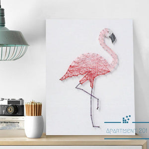 Flamingo String Art DIY Kit - apt201