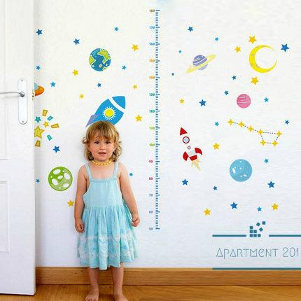 Space Explorer Height Measuring Wall Decal - Apartment 201