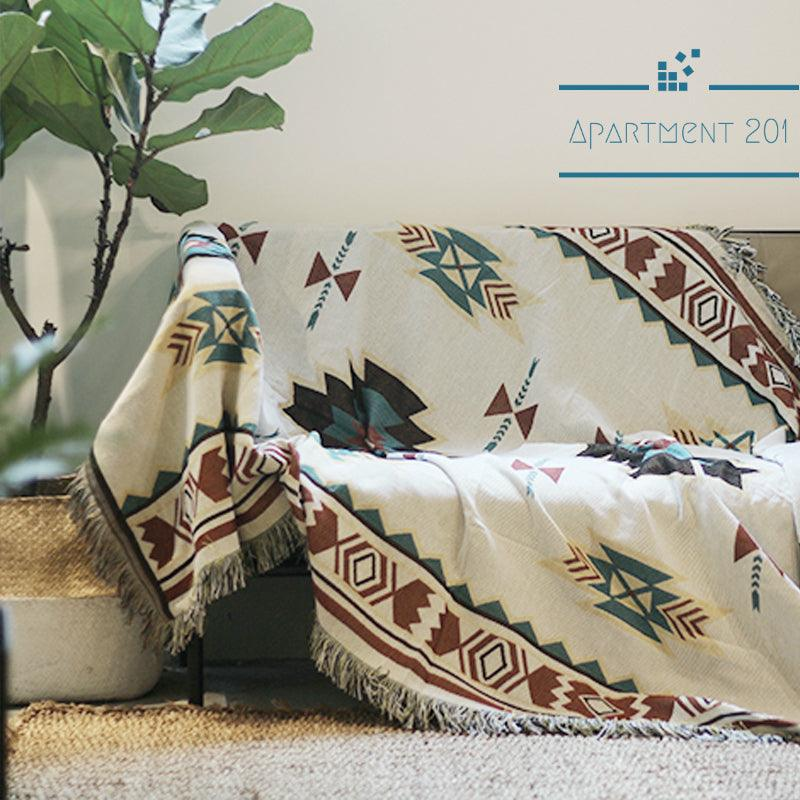 Aztec Tribal Throw Blanket - Apartment 201