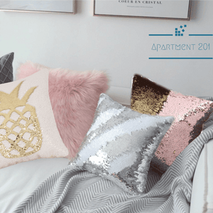 Frost it up Sequin Cushion Covers - apt201