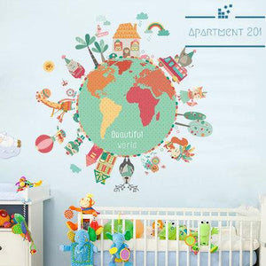 Beautiful World Wall Decal - apt201