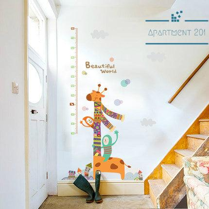 Giraffe Fun Height Measuring Wall Decal - apt201