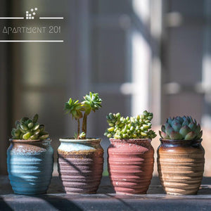 Set of 4 Honey Pot Planters - Apartment 201