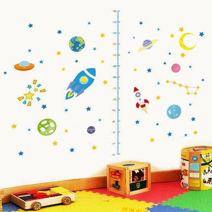Space Explorer Height Measuring Wall Decal - apt201