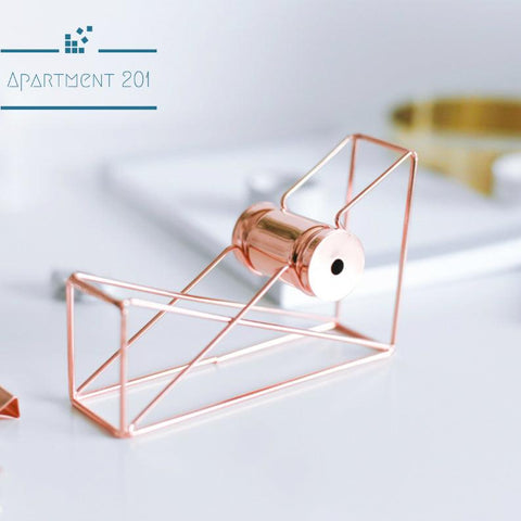 Rosegold Geometric Tape Holder - apt201
