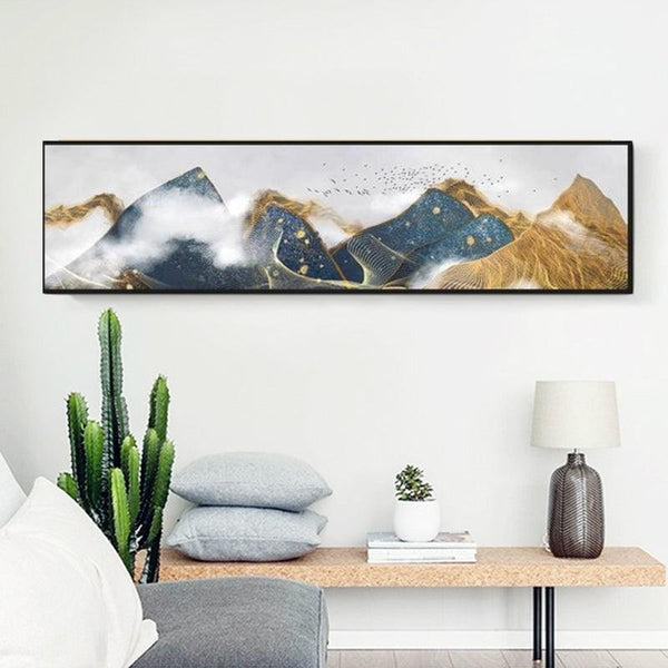 Colorful Mountain Canvas Wall Art - Apartment 201