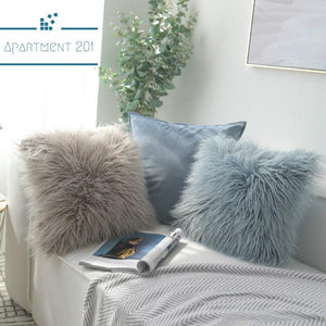 Fluffy Long Plush Hygge Cushions/ Cushion Covers - apt201
