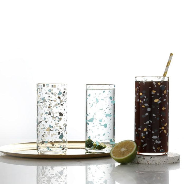 Terrazzo Patterned Glasses - Apartment 201