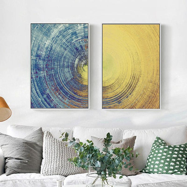 Abstract Day & Night Series Canvas Wall Art - Apartment 201