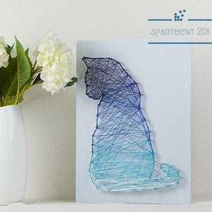Starry Cat String Art DIY Kit - apt201