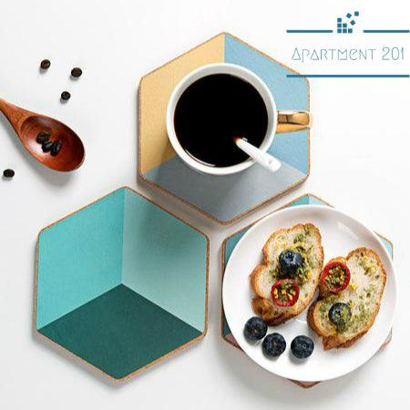 Colorful Diamond Cork Coasters - Apartment 201