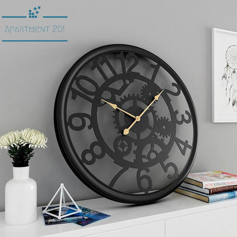 Torino Industrial Wall Clock - Apartment 201