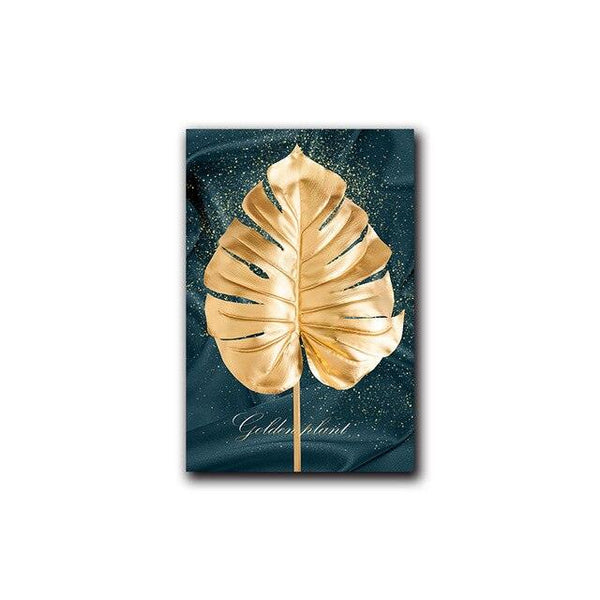Monstera Vogue Leaf Canvas Wall Art - Apartment 201