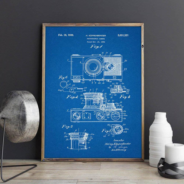 Vintage Camera Canvas Wall Art - Apartment 201