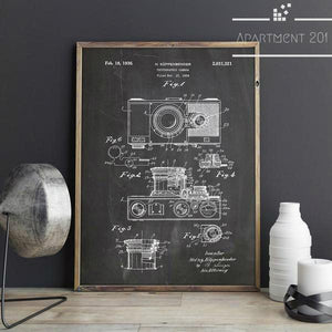 Vintage Camera Canvas Wall Art - apt201