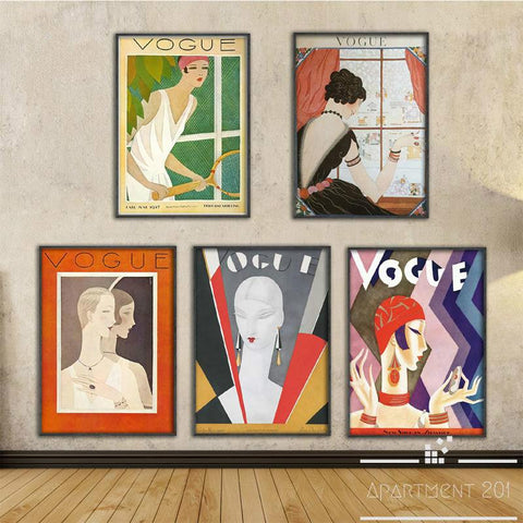 Vintage Vogue Cover Canvas Wall Art - Apartment 201