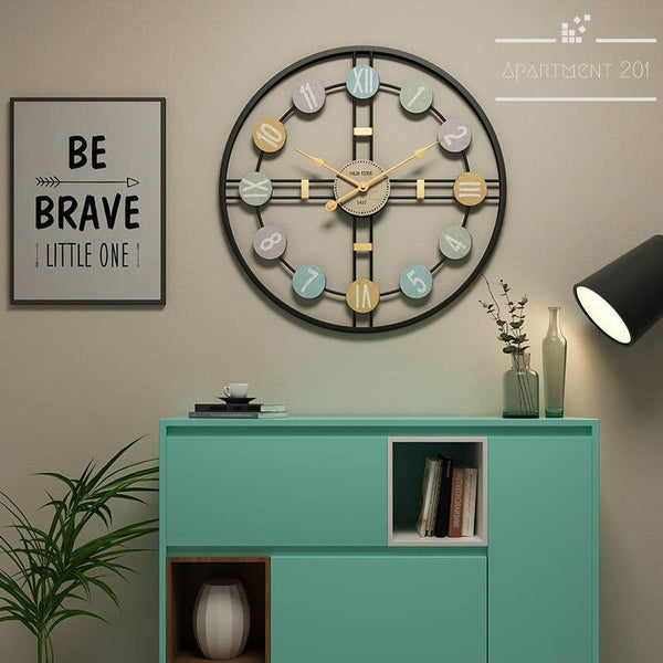 Vintage Chic Wall Clock - Apartment 201