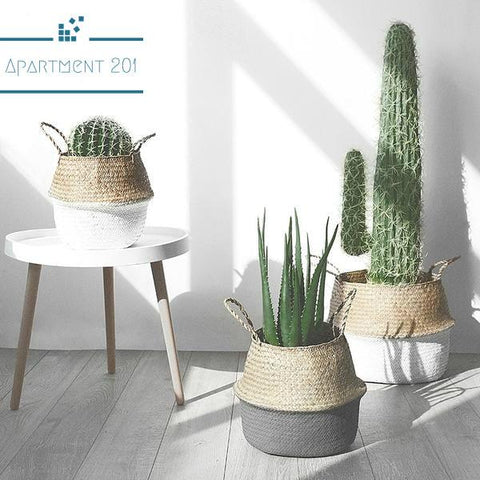Rattan Storage Baskets - Apartment 201