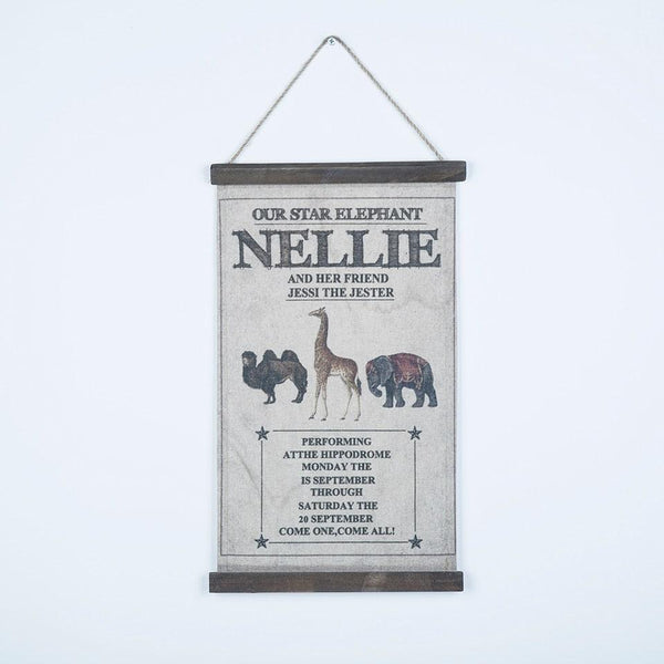 Retro Slogan Wood & Linen Hanging Scroll - Apartment 201
