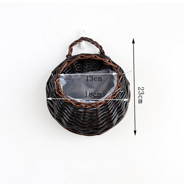 Wall Hanging Wicker Flower Basket - Apartment 201