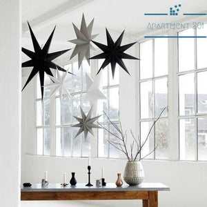 "12"" Hanging Paper Star Decor - apt201"