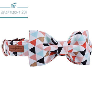Geo Cool Bowtie Collar and Leash - apt201