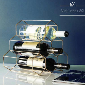 Nordic Geometric Wine Rack - Apartment 201