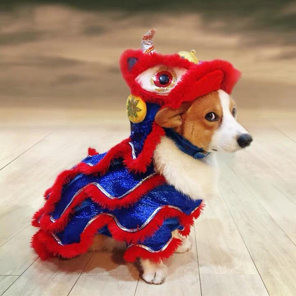 Chinese New Year Lion Dog Outfit - Apartment 201