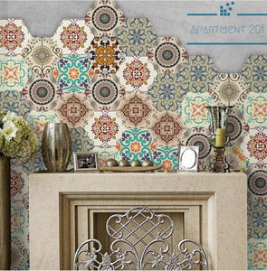 Creative Hexagonal Tile Sticker - Apartment 201