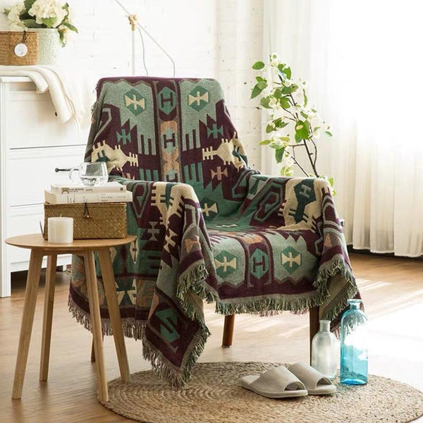 Alpaca Hill Cotton Throw Blankets - Apartment 201
