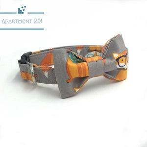 Fox Cool Collar & Bow Tie Set - apt201