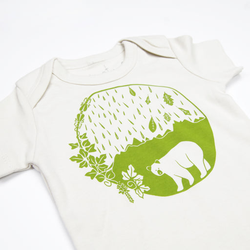 Organic Baby Clothes, North East Baby, South East Baby, Bear Baby Shower Gift, Appalachian Baby, Mountain Baby, Unisex Baby Gift