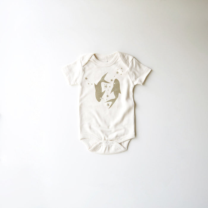 Pisces Baby Gift | Organic Baby Clothes | Astrology Bodysuit | February 19 - March 20 | Gender Neutral