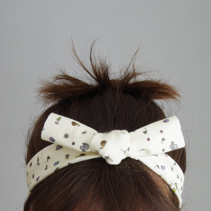 Organic Knotted Headband - Zodiac Stars on White