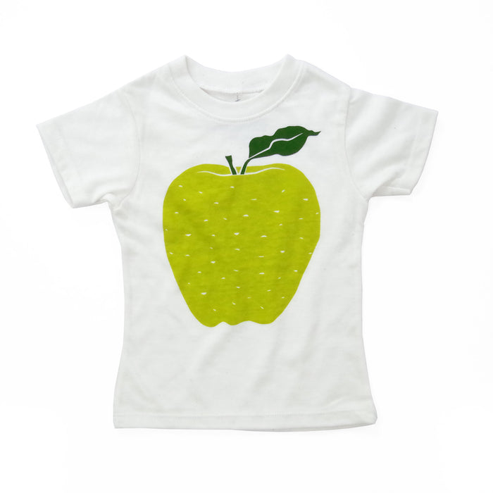 Apple | Eco Baby Tee | Screen Printed T-Shirt | Babies | Toddlers | Kids | Shirt | Recycled | Organic | Fair Trade | Baby Tee | Hipster
