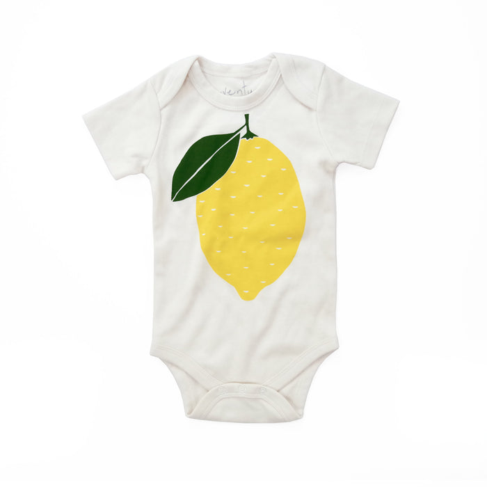 Yellow Lemon Organic Baby Bodysuit