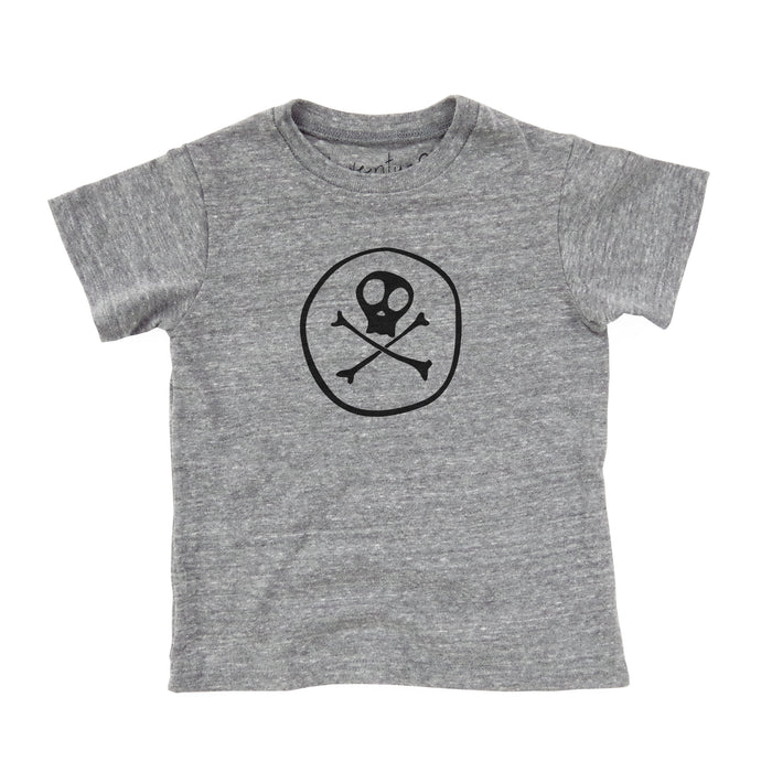 Jolly Roger | Skull and Bones | Halloween | Eco Baby Tee | Toddler T-Shirt  | Fair Trade | Screen Printed Clothing | Unisex | Gender Neutral