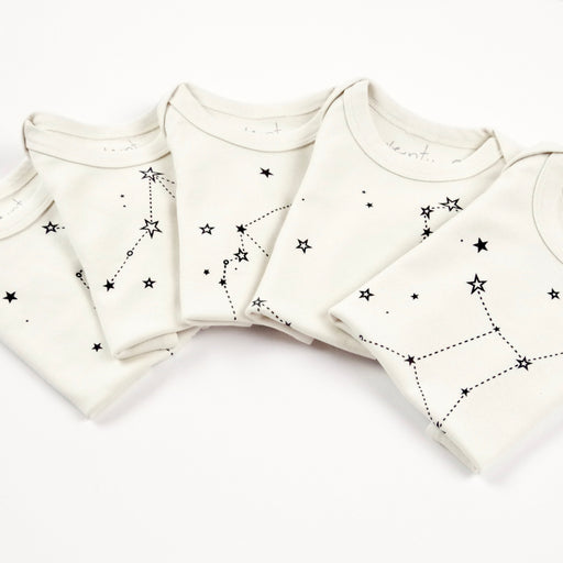 zodiac signs baby gift idea shower gender neutral onesie bodysuit organic