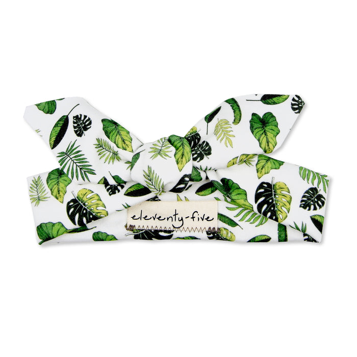 Organic Knotted Headband - Tropical Leaves
