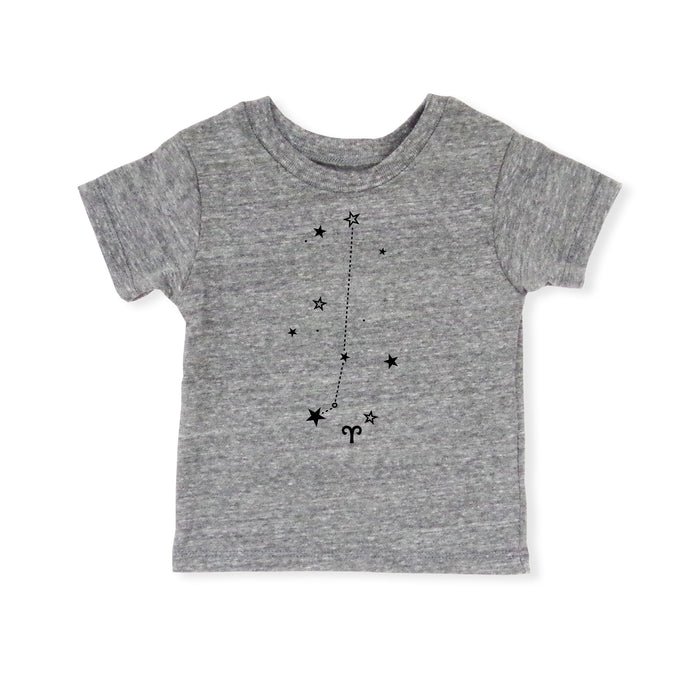 Aries Shirt | Eco Baby Kids Tee | Astrology | Gender Neutral | March 21 - April 19 | Horoscope Zodiac Stars Gift