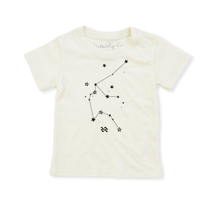 Aquarius Shirt | Eco Baby Kids Tee | Astrology | Gender Neutral | January 20 - February 18 | Horoscope Zodiac Stars Gift