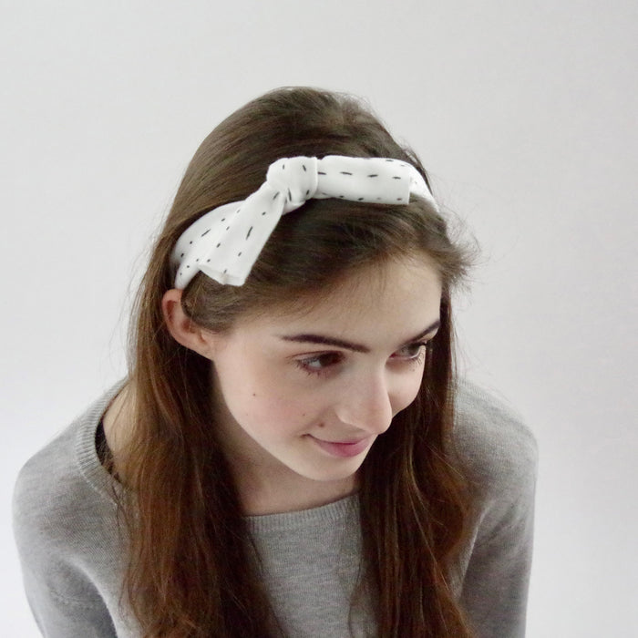 Organic Knotted Headband - Dashes