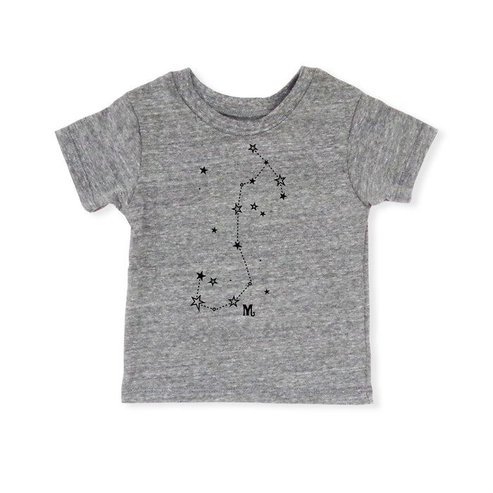 Scorpio Shirt | Eco Baby Kids Tee | Astrology | Gender Neutral | October 23 - November 21 | Horoscope Zodiac Stars Gift