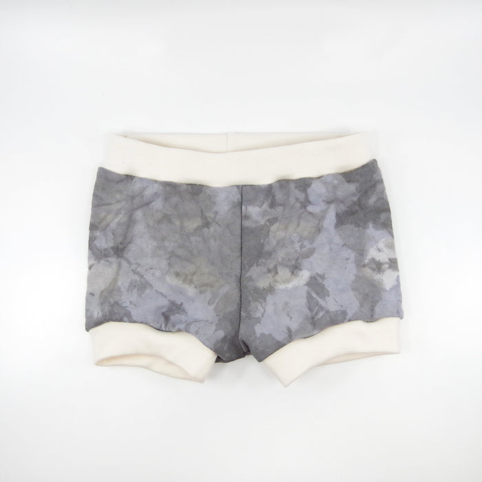 Grey Color Splash Dip Dyed Shorties in 6-12 months - One of a Kind!