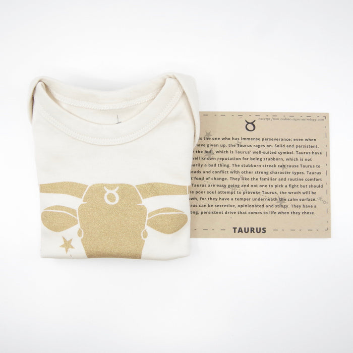 Taurus Baby Gift | Organic Baby Bodysuit | Astrology Unisex Baby Gift | April 20 - May 20  | Baby Shower Present